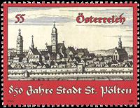 Autriche - Ville St. Pölten - Timbre neuf