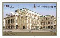 Østrig - Wiens statsopera - Postfrisk frimærke