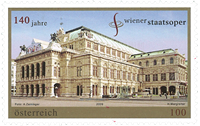 Autriche - Opéra national à Vienne - Timbre neuf