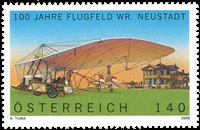 Autriche - Aéroport Neustadt - Timbre neuf