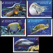 Australien - Undervandssafari - Postfrisk sæt 5v