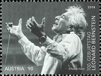 奥地利新邮 伦纳德·伯恩斯坦纪念邮票  指挥家 音乐 艺术 - 新票