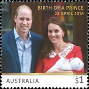 Australie - Bébé de la famille royale - Timbre neuf