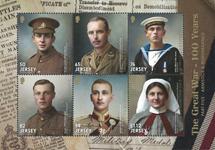 Jersey - Première Guerre Mondiale - Bloc-feuillet neuf