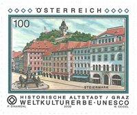 Østrig - Unesco kulturarv - Gamle bydel i Graz - Postfrisk frimærke