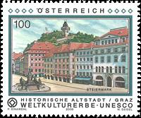 Autriche - Héritage culturel d'Unesco - Ancienne ville de Graz - Timbre neuf