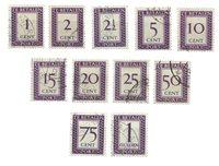 Surinam 1950 - NVPH P36/46 - oblitéré