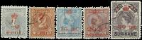 Suriname 1911 - NVPH 60/64 - stemplet