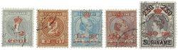 Surinam 1911 - NVPH 60/64 - oblitéré