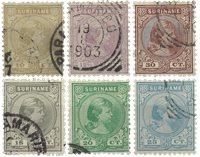 Suriname 1892 - NVPH 23/28 - stemplet