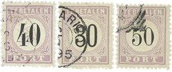 Surinam 1886-1888 - NVPH P6/8 - oblitéré