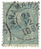 Suriname 1873-1889 - NVPH 10 - stemplet