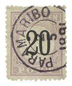 Suriname 1886-1888 - NVPH P4 - stemplet