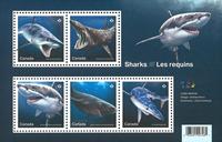 Canada - Hajer - Postfrisk miniark