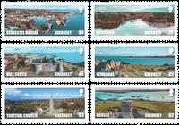 根西岛新邮 根西岛自然风光 旅游 自然 - 新票套票6枚