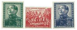 DDR 1951 - Michel 286-288 / AFA 120-122 - Postfrisk