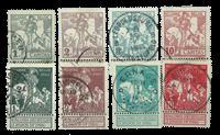 Belgique - Anti-tuberculose, 1910 - Obl. (OBP 84-91)