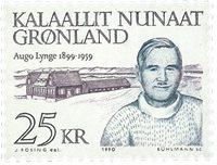 Groenland - Portraits d´hommes politique - 25 kr -  Bleu-noir et violet-brun