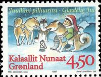 Grønland - 1997. Julefrimærker - 4,50 kr. - Flerfarvet