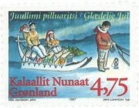Grønland - Julefrimærker 1997 - 4,75 kr - Flerfarvet