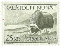 Groenland - 1969. Boeuf musqué - 25 kr. - Brun-olive