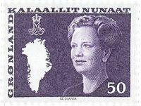 Groenland - Reine Margrethe II - 50 øre - Violet (du carnet no 1)