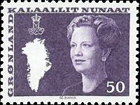 Grønland - Dronning Margrethe II. Ny brugsudgave -  50 øre - Grumset-violet