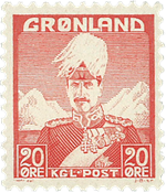 Grønland - Kong Christian X - Rød - Type I - 20 øre