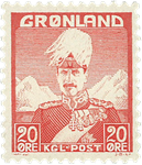 Groenland - Roi Christian X - Rouge - Type I - 20 øre
