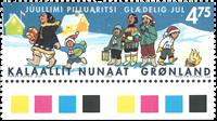 Grønland - Julefrimærker 2002 - 4,75 kr - Flerfarvet