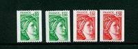 Frankrig - YT 1980a+1981a+1981Aa+1981Ba postfrisk