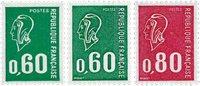 France - YT 1814a, 1815a, 1816a neufs sans ch.