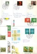 Alemania Occidental - Lote de repetidos con SPD y cartas