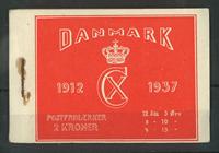 Danmark - Frimærkehæfte Chr. Xs 25 års regeringsjubilæum