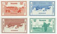 Island 1933 - AFA 167-170 - Postfrisk