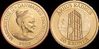 DK 20 kr.Århus Rådhustårn