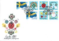 Suède - Féliciations / Drapeau - Env. 1er jour