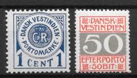 Antille Danesi - AFA Po. 1 + 8B - Nuovi