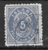 Islanti 1875 - AFA 6B - Leimattu