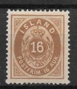 Islanti 1875 - AFA 9 - Käyttämätön