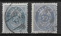 Islanti 1882 - AFA 14-14a - Leimattu