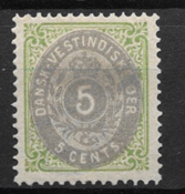 Antille Danesi 1873 - AFA 8 - Timbrato