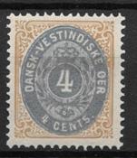 Antille Danesi 1876 ??- AFA 10 - nuovo linguellato