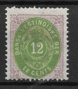 Antille Danesi 1877 - AFA 12 - Nuovi