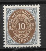 Antille Danesi 1901 - AFA 11B - nuovo linguellato