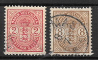 Antille Danesi 1903 - AFA 22 + 23 - Timbrato