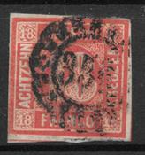 Baviera 1861 - AFA 14 - Timbrato
