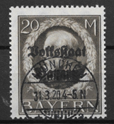 Baviera 1919 - AFA 136 - Timbrato