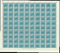 Islande 1939 - Poissons 1 EYR feuille entière