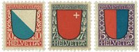 Schweiz 1920 - Michel 153/55 - Ubrugt